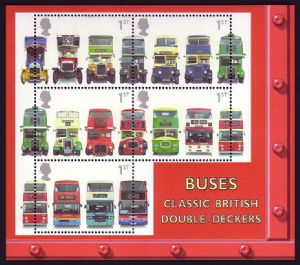 2001 MS2215 Buses Miniature Sheet